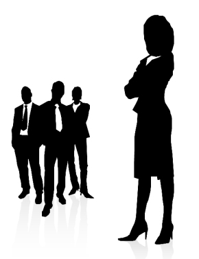 BusinessPeopleSilhouetteWoman